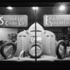 Tire window display at night, Southern California, 1927