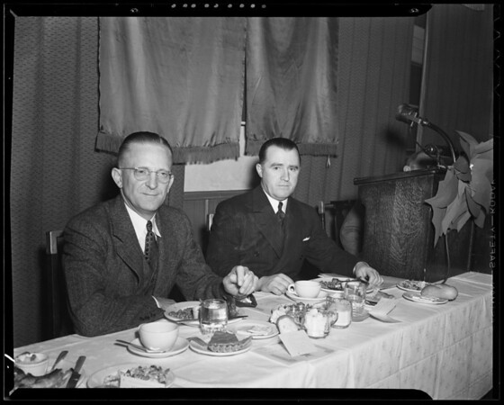 Ford dealers at L.A. Breakfast Club luncheon, Southern California, 1940