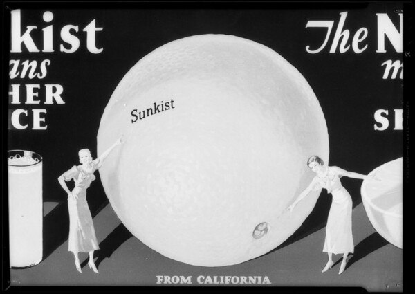 Magazine cover etc., Sunkist, Southern California, 1935