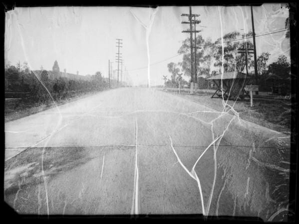 Intersection of East Florence Avenue & East Redondo Boulevard, Albert Pet. Co., assured, John Piper, injured, Inglewood, CA, 1936
