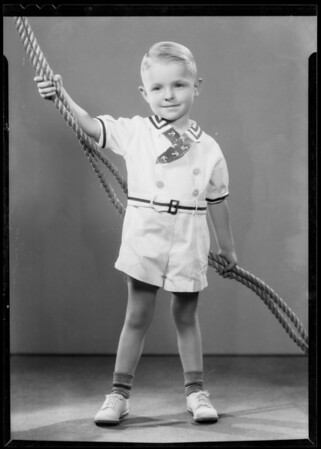 Portrait of Mrs. Irwin's boy, Southern California, 1935