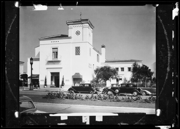Bullock's Westwood for postcards, Southern California, 1936