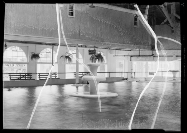 Fountain in Venice Plunge, Southern California, 1935
