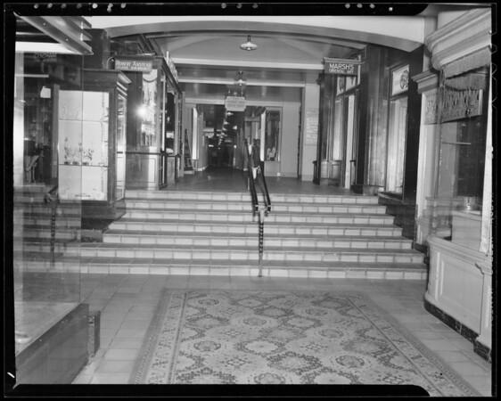 Steps at Ambassador Hotel, 3400 Wilshire Boulevard, Los Angeles, CA, 1940