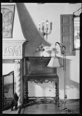 Adjustable floor lamp, Southern California, 1926
