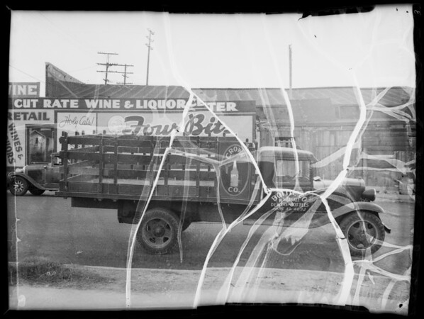 Truck at Crown Bottle Works, Southern California, 1935