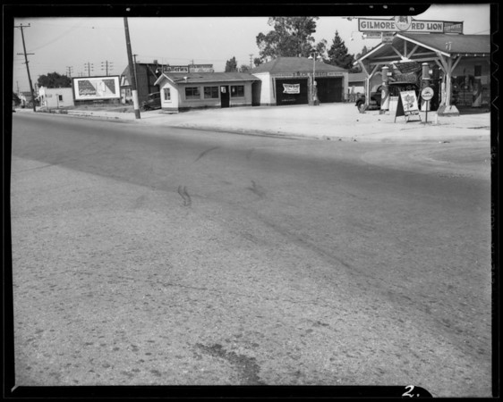 Intersection of West 94th Street and South Vermont Avenue, Los Angeles, CA, 1940