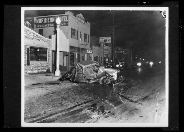 Car wreck, Royal Indemnity, Southern California, 1935