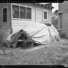 1936 Ford under cover, 4057 Budlong Avenue, Los Angeles, CA, 1940