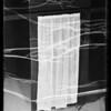 Curtains at studio, Southern California, 1936