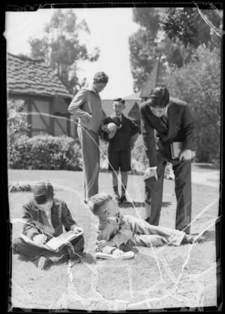 School boys, Southern California, 1935