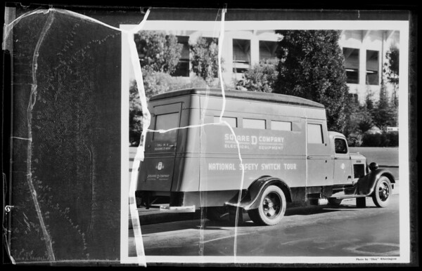 Safety Tour truck, Southern California, 1935