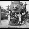 Union Pacific train and show girls, Southern California, 1926