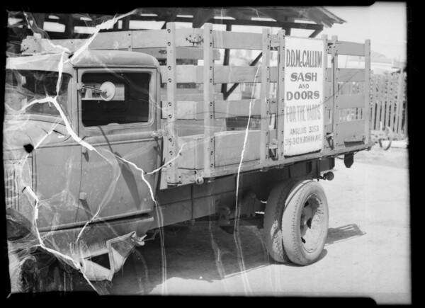 McCallum Lumber Co. truck, Southern California, 1936