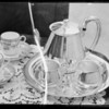 Silver tea set, Southern California, 1935