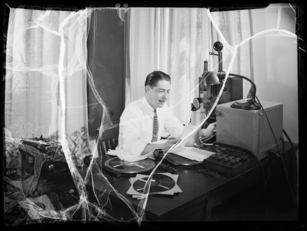 Ken Barton - announcer at station, Southern California, 1935