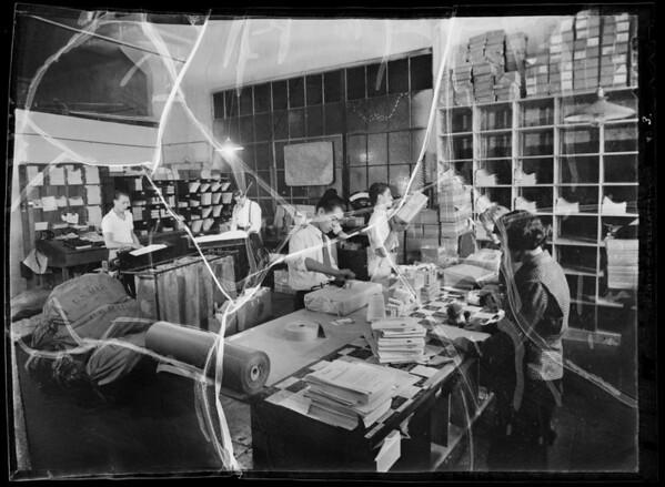 Radio repairing and mailing debt, Southern California, 1935
