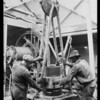 Wilson Willard equipment in use and oil field operators on Signal Hill, CA, 1926