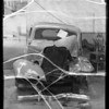 Wrecked Ford coupe owned & insured by H.C. Knox, Southern California, 1935