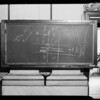 Blackboard in Judge Gate's courtroom, Southern California, 1940