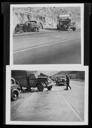 Scene of accident, Ritter vs. Wilson Co., Southern California, 1940