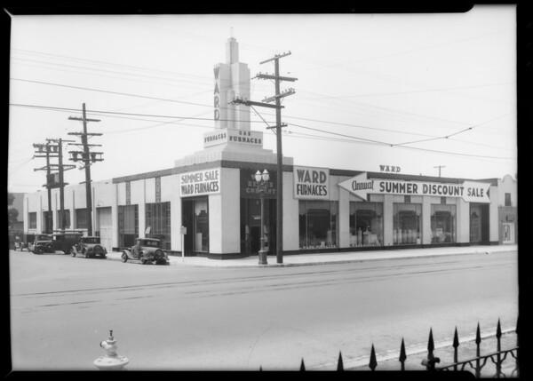 Exterior of building, Los Angeles, CA, 1935