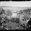 Flowers and casket at 3927 Brighton Avenue, Los Angeles, CA, 1935