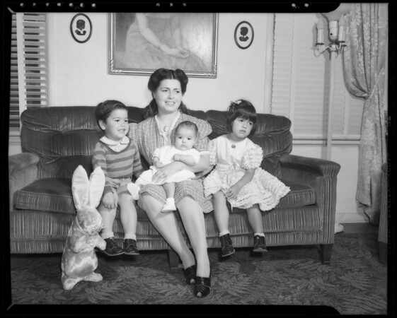 Gutierrez family, Southern California, 1940