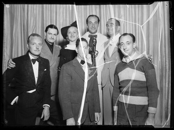 Ricardo Cortez, Al Jolson, Vic Young, etc, at Shell Chateau, Southern California, 1935