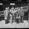 Group at Mariposa arrival, Southern California, 1936