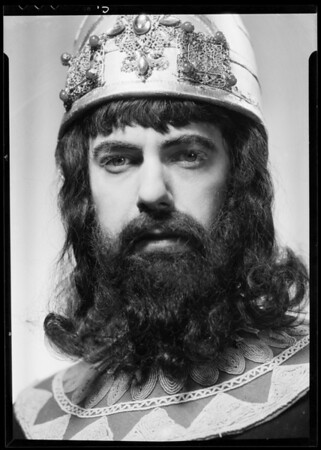 Mr. Anderson as King Solomon, Los Angeles, CA, 1935