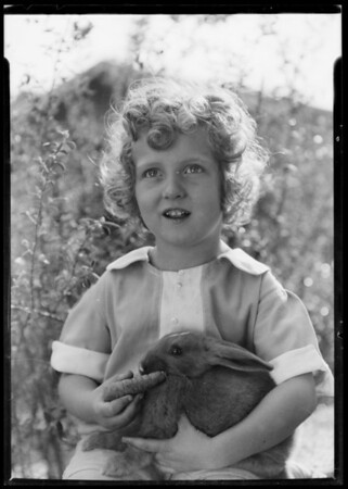 Rabbits with and without Edward, Southern California, 1936