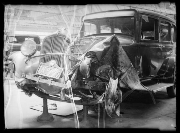 Plymouth sedan, Mrs. Fenel, owner, Southern California, 1935