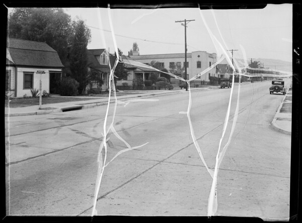 Intersection of North Madison Avenue and Middlebury Street, Los Angeles, CA, 1935