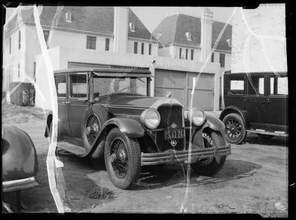 Buick sedan, C.H. Eccleston assured, File #2AL7034, Southern California, 1936
