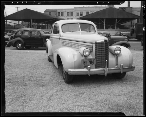 1938 La Salle sedan, Los Angeles, CA, 1940