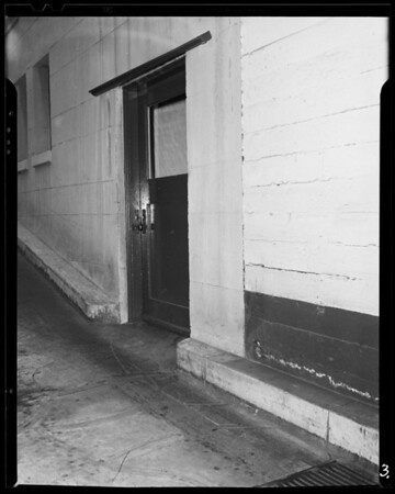 Ramp at Fontenoy apartments, 1811 Whitley Avenue, Southern California, 1940