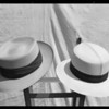 Men's straw hats, Southern California, 1927