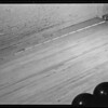 Bowling alley floor and defective board at Beverly Hills Bowling Courts, 9244 Wilshire Boulevard, Beverly Hills, CA, 1940