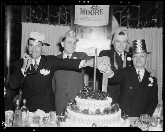 First Annual Banquet at Hollywood Knickerbocker, Los Angeles, CA, 1940
