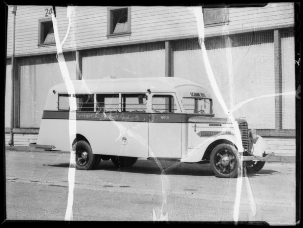 Carl Curtis School bus, Southern California, 1935