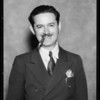 Testimonial man, Mr. Adrian Arran, Southern California, 1935