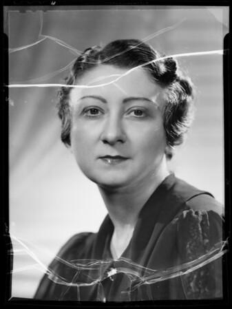Portrait of Helene Harrison, Southern California, 1935