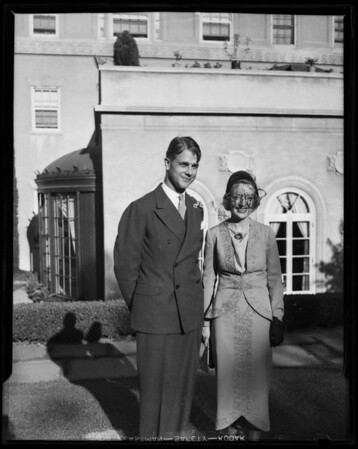 Wedding party of Tobin, Towne House, 2959 Wilshire Boulevard, Los Angeles, CA, 1935