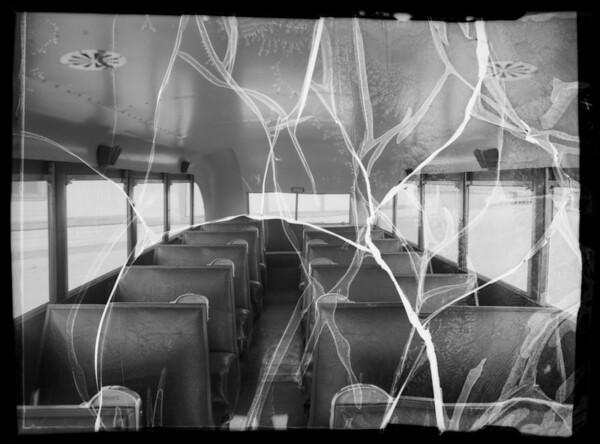 Calexico Union High School bus, Southern California, 1936
