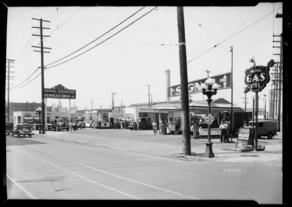 Newman Brothers station, 7th Street & Alameda Street, Los Angeles, CA, 1935