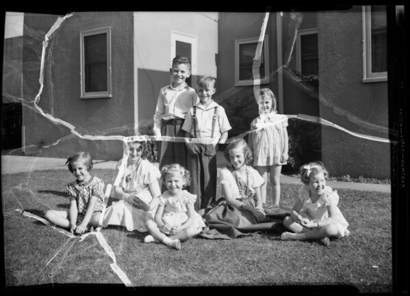 Eleanor's 5 year old party, Southern California, 1936