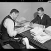 Mr. LaBuano & accountant at desk, Southern California,  1940