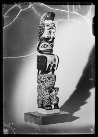 Totem pole, Southern California, 1936