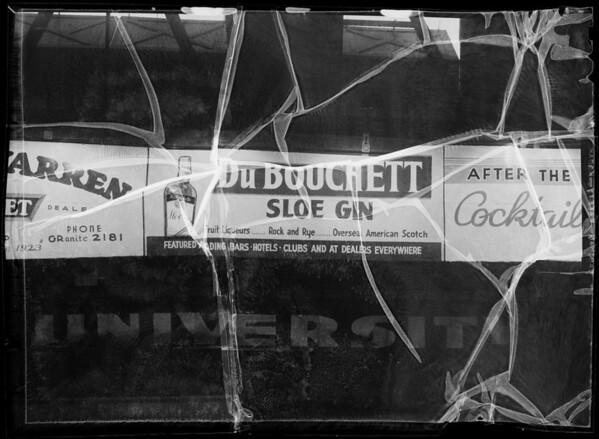 Board at Hollywood stadium, Southern California, 1935